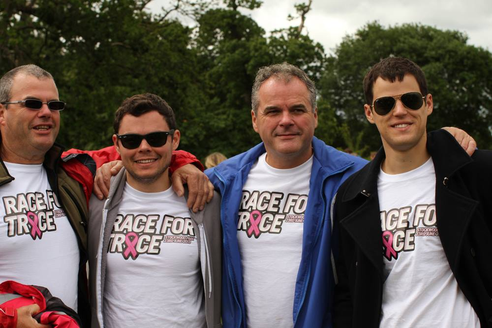 My Uncle Steve, me, Dad and my brother Liam. A gaggle of idiots if you will.
