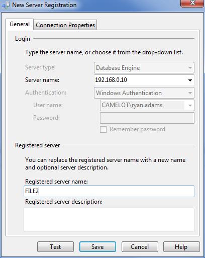 New Server Registration
