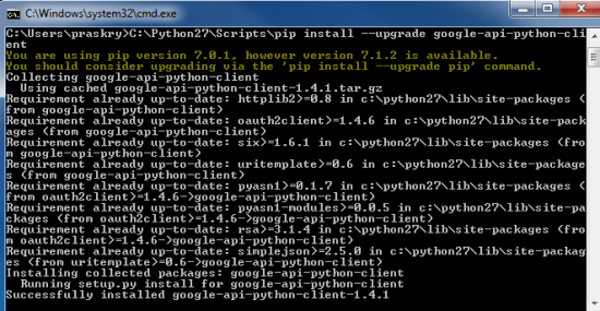 pip install google analytics python