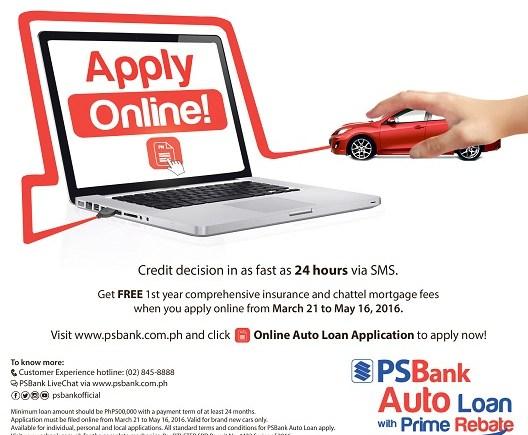 Psbank Online Auto Loan Application