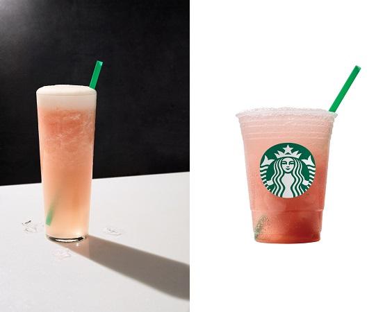 Coconut Water with Watermelon Granita Starbucks Fizzio™ Sparkling Beverage.