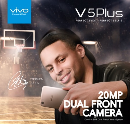 Vivo to Launch Stephen Curry-endorsed 20MP Dual Front Camera V5 Plus