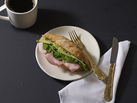 Farmer's Ham and Emmental Cheese on French Baguette