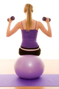 exercise ball shoulder press