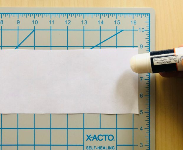 Image sharing how to cut your paper into strips (as many as you would like, but think of at least 10 or more) using the X-Acto knife or the scissors, apply the glue stick to the edge of one side of the strip that you have cut
