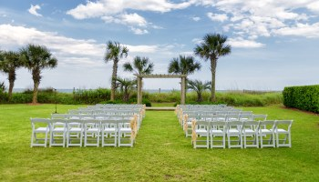 Wedding location on the grass behind the Hilton in Myrtle Beach