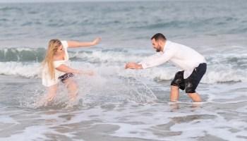 Splashing in the ocean  - Huntington Beach State Park