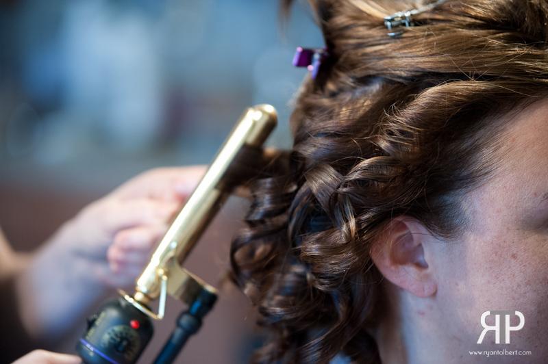 Getting hair done at Kara Gaylor Salon