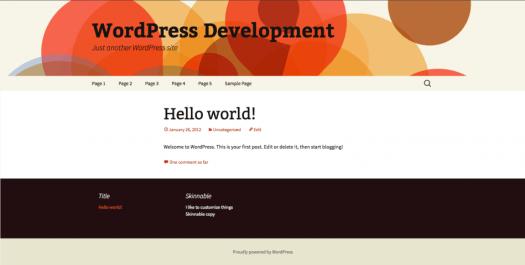 Final Skinnable WordPress Widget screenshot