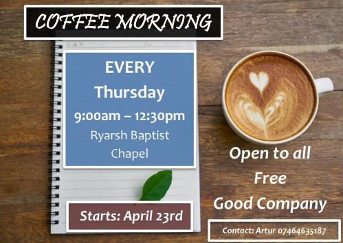 ryarsh baptist chapel coffee morning