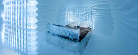 První ledový hotel, který funguje po celý rok