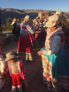 Locals celebrating our hard work with a traditional dance
