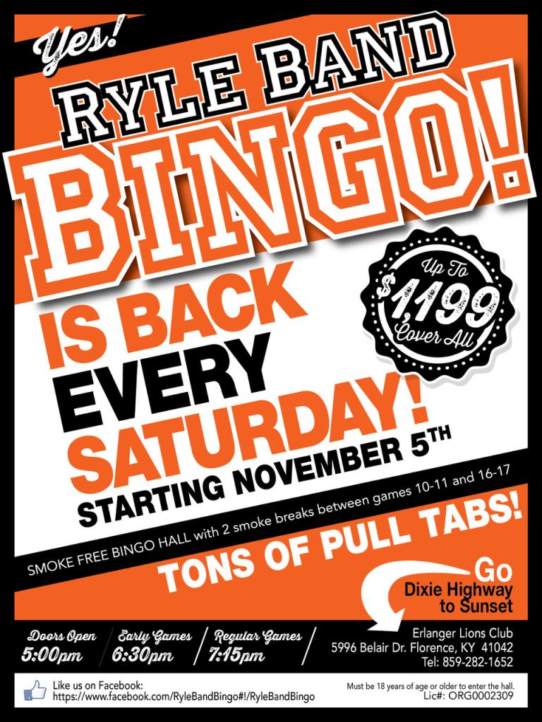 Ryle Band Bingo
