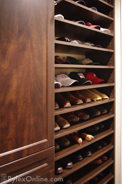 Mens Walk In Closet Adjustable Shoe Shelves Warwick NY