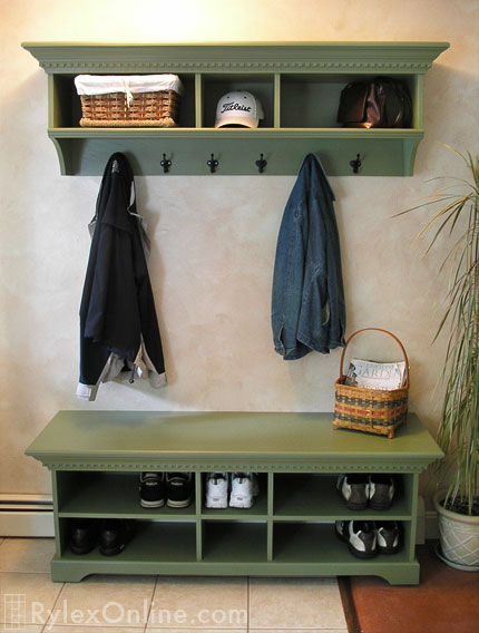 Coat Rack Cabinet Crown Moulding Warwick Valley Ny
