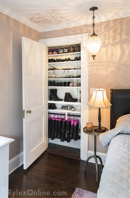Shallow Shoe Closet Visible Shoe Organization New