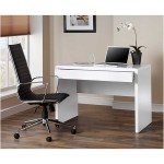 Luxor Gloss Workstation Desk With Hidden Drawer White