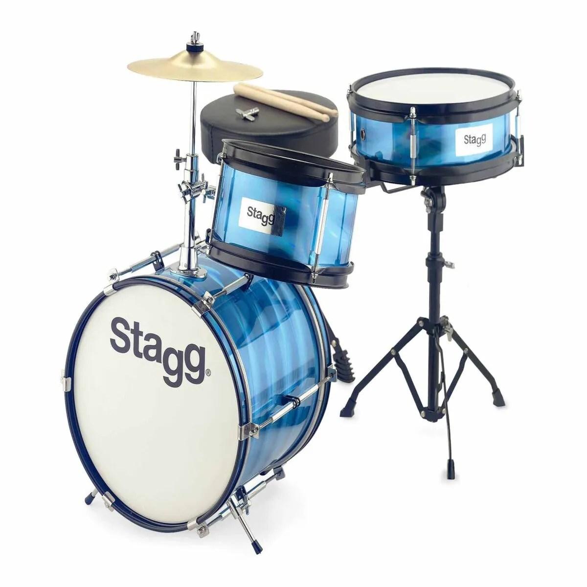 stagg junior 3 piece drum set