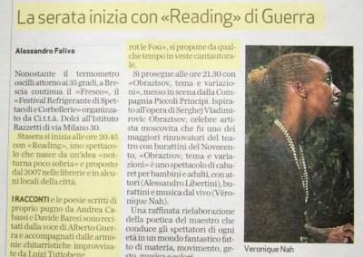 Bresciaoggi 19 agosto 2009 p. 41