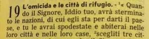 La Sacra Bibbia, Deuteronomio 19, 1