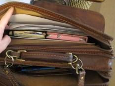 Nella mia borsa: tasca posteriore
