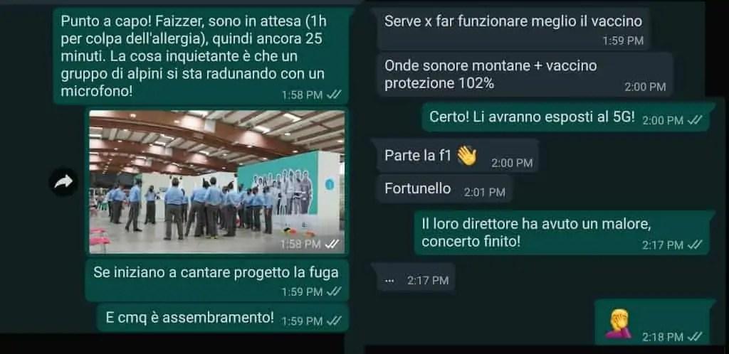 Racconto domenica Andrea Cabassi anti Covid-19: Chat
