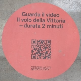 QR code per vedere un video sulla Vittoria Alata