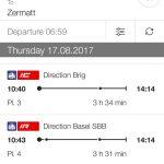 スイス ロードバイクとハイキングの一人旅2017 2日目の予定