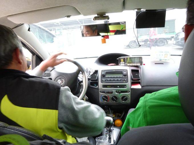 タクシー乗れました。