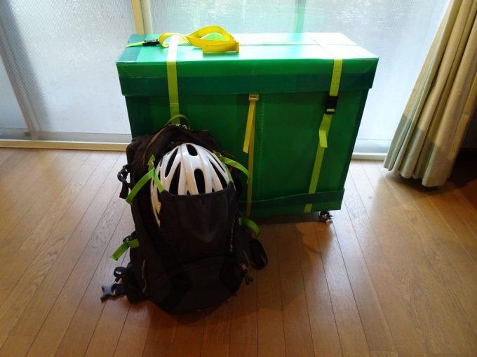 輪行箱と荷物