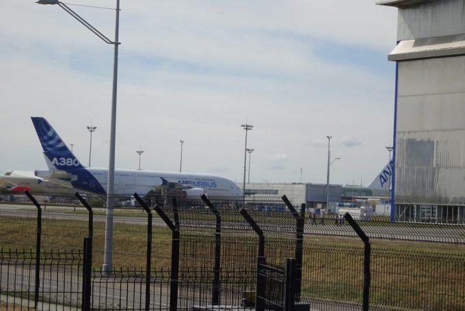 ANAのA380製造中