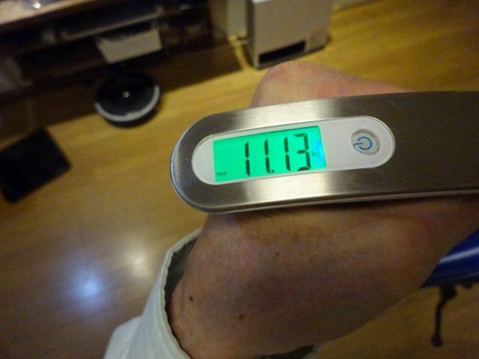バイクフライデーの重量測定