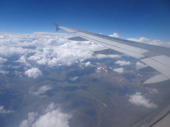 ヒマラヤ上空