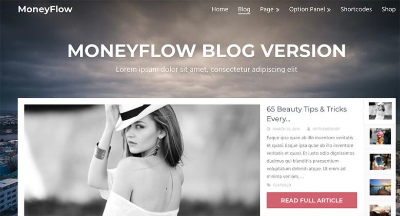 Tema WordPress di MoneyFlow per i blogger