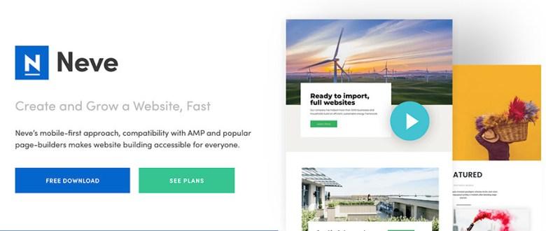 Tema Neve WordPress per costruttori di siti Web e blogger