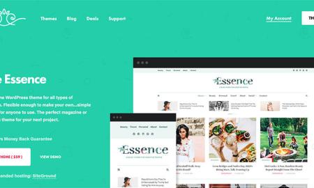 The Essence WordPress Theme for Lady Bloggers