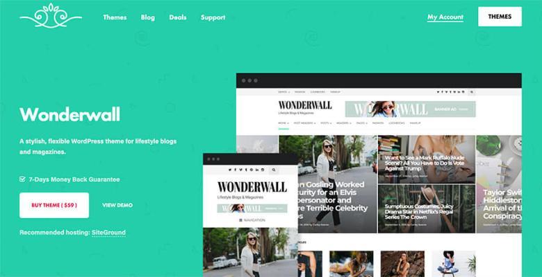 Tema WordPress Wonderwall per fotografi e blogger