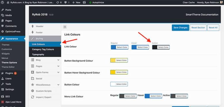 Come cambiare il colore del carattere nelle impostazioni del tema WordPress