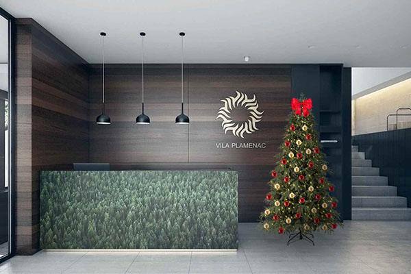 Lobby Trees Christmas