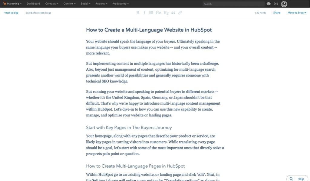 HubSpot CMS Blogging - HubSpot vs WordPress: The Ultimate Comparison - Rystedt Creative