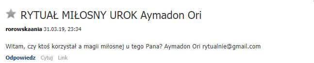 Aymadon Ori - rytuały miłosne, spętania