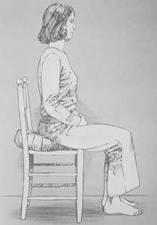 Illustration of woman meditating in a chair