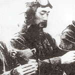 Photo of Tangen in his kamikaze uniform