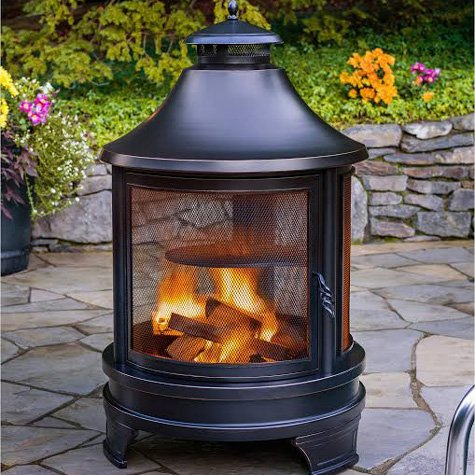 Northwest Sourcing Outdoor Cooking Pit - RZ Homestore on Costco Outdoor Fireplace id=64888