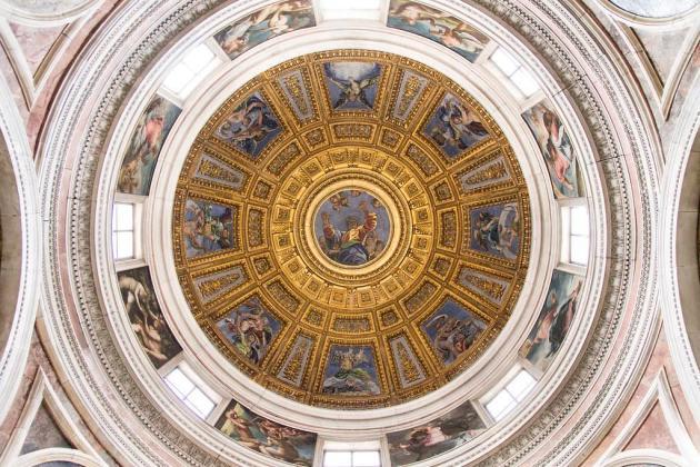 Rzym - kaplica Chigi - kopuła (dzieło Rafaela)