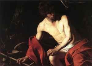 Caravaggio - Św. Jan Chrzciciel na pustyni