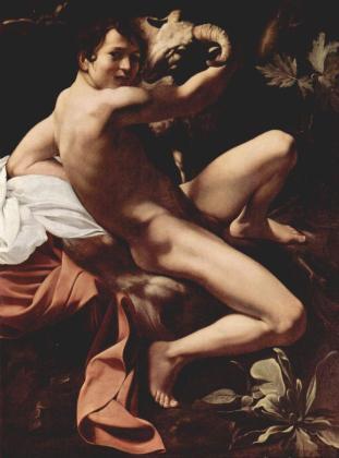Caravaggio - Św. Jan Chrzciciel dziecięciem