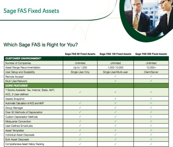 Sage Fixed Assets Grid