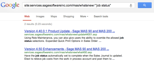 search results sage100