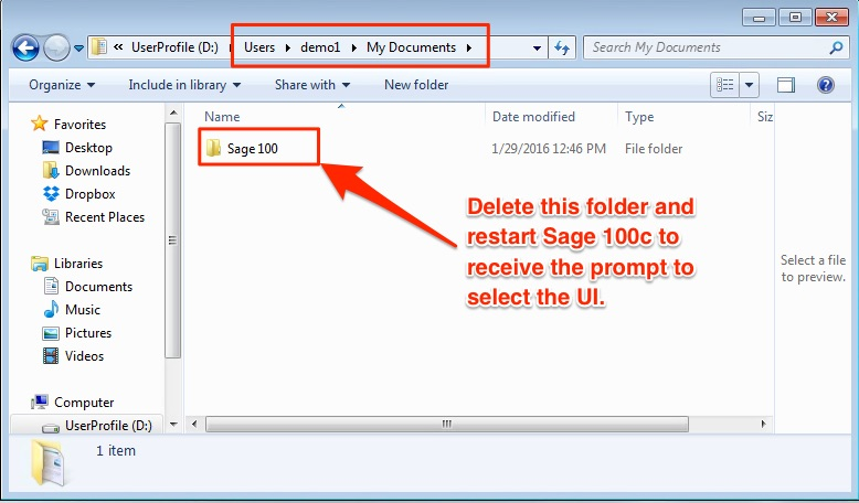 How To Change Between Classic and Standard User Interface in Sage 100c or Sage 100 2016